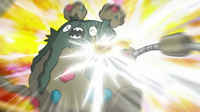 EP746 Garbodor vs. Pikachu