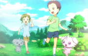 EP849 Ryuuji y Hajime cuando eran niños.png
