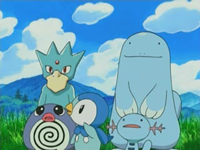 Archivo:EP476 Golduck, Quagsire, Wooper, Poliwag y Piplup.png