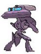 Imagen posterior de Genesect en la sexta generación