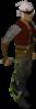 Un jugador con el látigo abisal verde