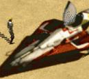 Interceptor ligero Delta-7 clase Aethersprite rojo de Anakin Skywalker