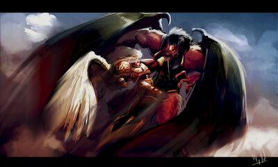 Sanguinus vs Bloodthirster by morganagod.jpg