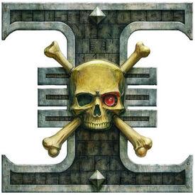Guardianes de la Muerte Emblema Ordo Xenos Inquisicion Wikihammer