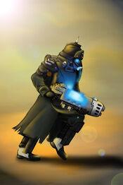 Korp de la Muerte de Krieg con Rifle de Plasma