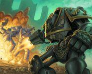 Dreadnought Contemptor Bakhart Hijos de Horus Traidores