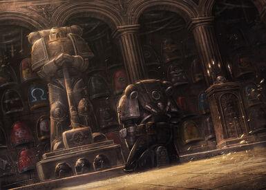Guardianes de la Muerte Vigilia por los Caidos Salon de la Gloria Fortaleza de Vigilancia Erioch Ordo Xenos Wikihammer