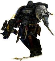 Ultramarine veterano de los Guardianes de la Muerte