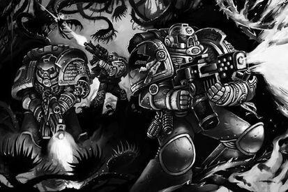 Guardianes de la Muerte Escuadra Lanzallamas Plantas Carnivoras Entorno Hostil Ordo Xenos Wikihammer