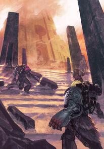 Guardianes de la Muerte Lobos Espaciales Obelisco Necron Wikihammer