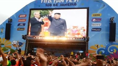 브라질 2014 - North Korea wins the group stage on World Cup - 북조선 Subtitles 자막
