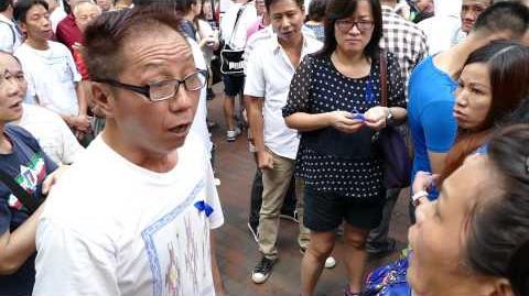 2014-10-02 SSP anti-oc 深水埗反佔中街站實況