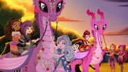 Dragon Games - girls get on dragons