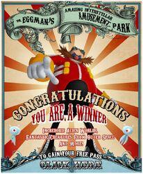 Dr. Eggman's Amazing Interstellar Amusement Park Advertisement