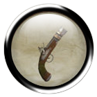 Iron flintlock pistol