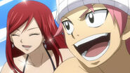 Natsu and Erza on vacation