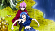 Meredy helping an unconscious Juvia