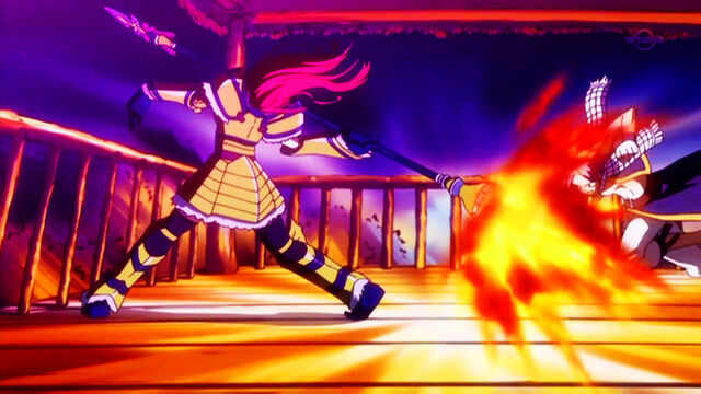 File:Erza about to throw spear at the moon.jpg