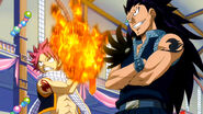 Gajeel and Natsu are ready to fight