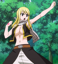 Natsu transforms into Lucy