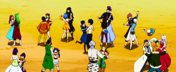 Fairy Tail practicing Social Dancing