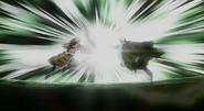Laxus and Orga clash