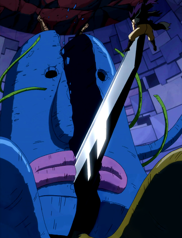 File:Gajeel beats the monster.png