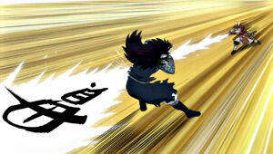 Yomazu attacks with Kan