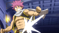 Natsu struck by White Shadow Rogue