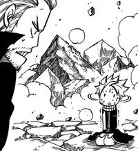 Natsu scared of Gildarts