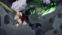 Mira and Elfman attacking Ophiuchus