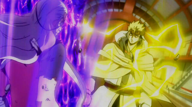 File:Laxus and Hades release their power.jpg