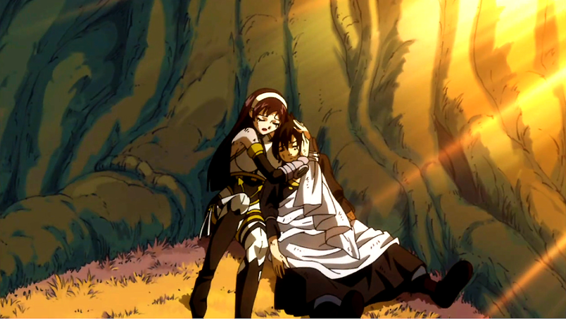 Zeref And Ultear FileUltear hugs Zeref jpg