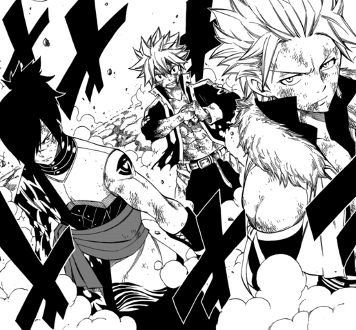 File:Sting, Natsu and Rogue take on Mard Geer.png