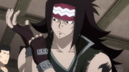 Gajeel prepares for the Tartaros war
