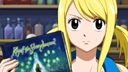 Lucy explaining about the Key of the Starry Heavens