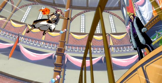 File:Natsu attacks Laxus.jpg