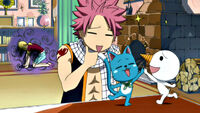 Lucy tricked by Natsu and Happy