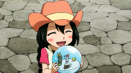 Asuka and snow globe