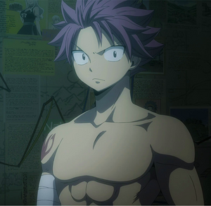 Natsu in Lucy's room