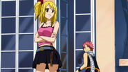 Lucy and Natsu on Everlue's Roof