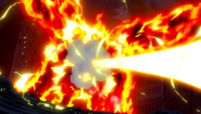 Atlas Flame hit by Laxus' Roar