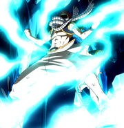 Natsu absorbing power of the Etherion