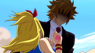 Loke saves Lucy