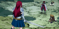 Erza Scarlet, Evergreen & Max Alors vs. Cobra
