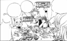 Natsu and Happy went to Lucy's house again