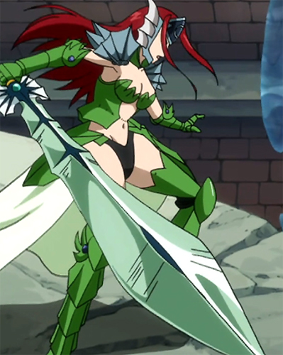 Fairy Tail Erza Sea Empress Armor Crystal Sword