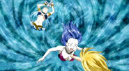 Lucy's summoning inside Juvia's body