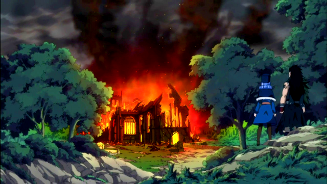 File:Gajeel and Juvia arrive at a destroyed church.png