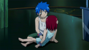 Young Jellal saves Erza